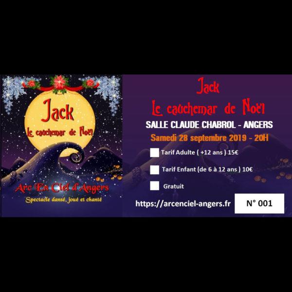 Billet du spectacle Jack le cauchemar de Noël , Nouveau spectacle de l'Arc en Ciel d'Angers le 28_09 à 20H