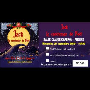 Billet du spectacle Jack le cauchemar de Noël , Nouveau spectacle de l'Arc en Ciel d'Angers le 29_09 à 15H30